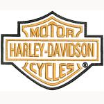 Hímzett Harley-Davidson logó 01