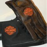 Hímzett Harley-Davidson bőr kesztyű 01