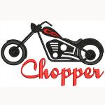 Hímzett Chopper 02