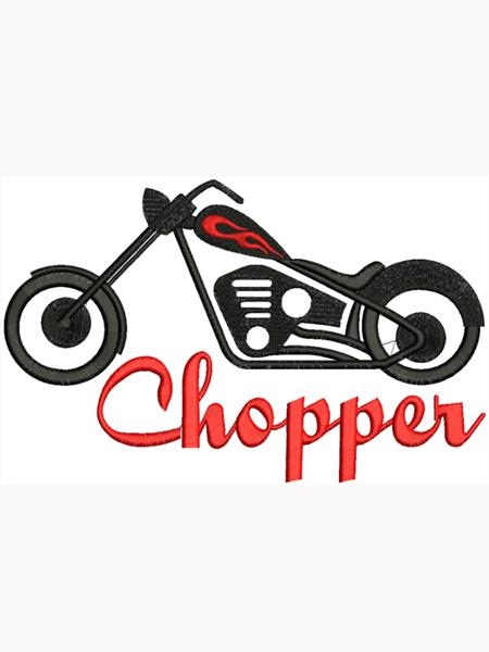 Chopper motoros felvarró  02