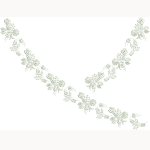 Szűcs hímzésminta 1519-10 Békési fehér