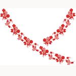 Szűcs hímzésminta 1519-10 Békési piros