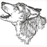 Hímzett Magányos farkas 01