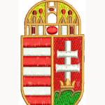 Hímzett Magyarország címer 01
