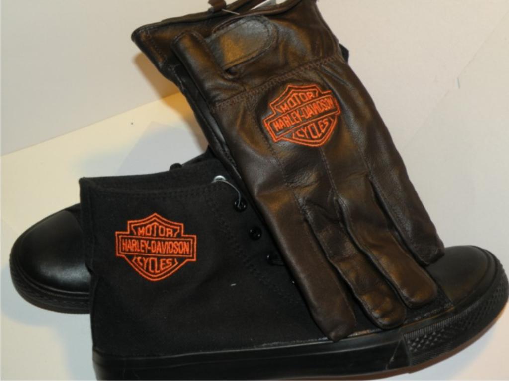 Hímzett Harley-Davidson sportcipő 01