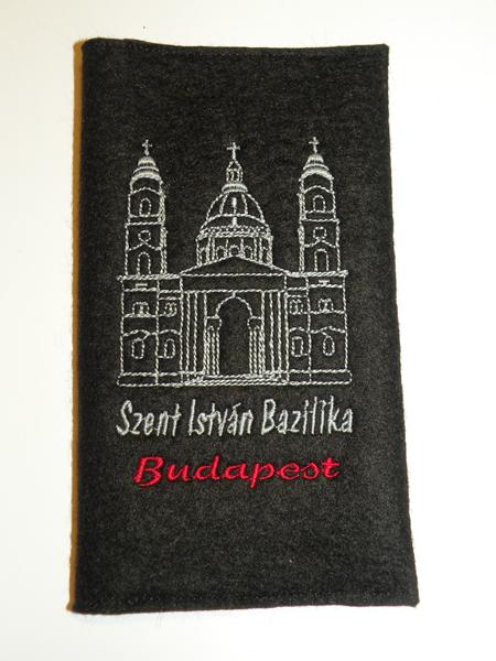 Hímzett imakönyvborító 13 Szt István Bazilika