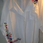 Hímzett női blúz, Kalocsai minta 03