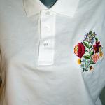 Hímzett női blúz, Kalocsai minta 08