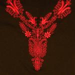 Hímzett női blúz, Kalotaszegi minta 02