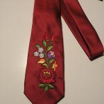 Hímzett nyakkendő 06;