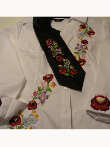 Hímzett nyakkendő 32;