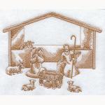 Hímzett Jézus születése 01