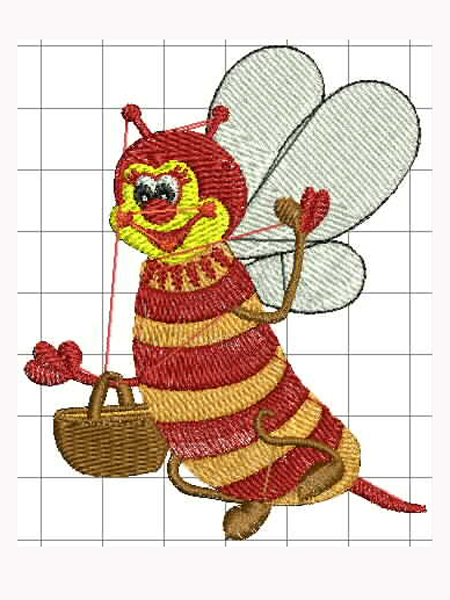 Óvodai jel; méhecske 01;