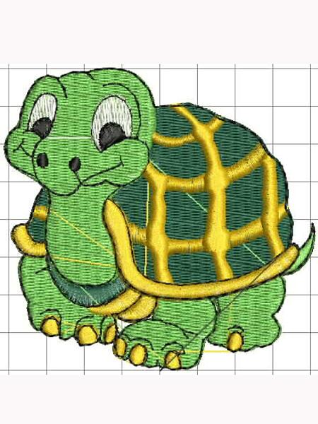 Óvodai jel; teknős 01;