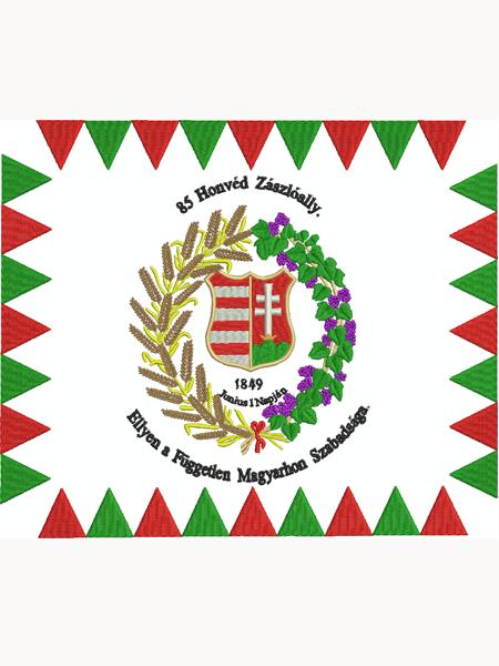 Hímzett Honvédzászló 1848-49