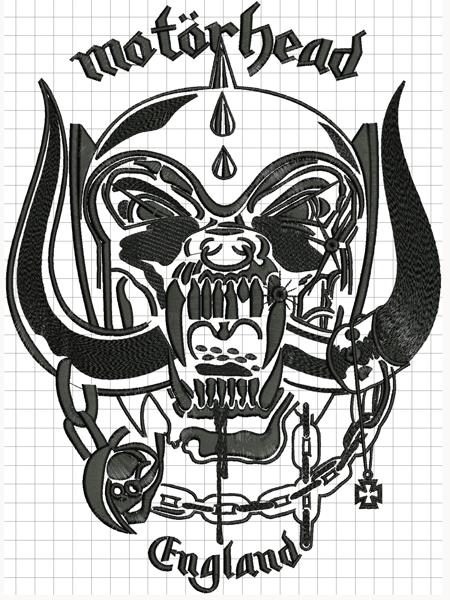 Hímzett Motörhead 02