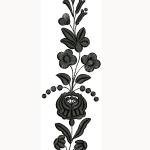 Kalocsai hímzésminta 309 fekete